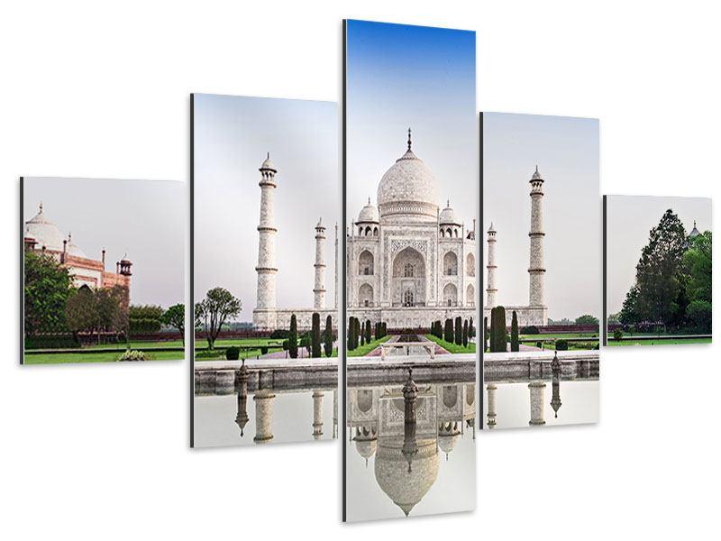 Aluminiumbild 5-teilig Taj Mahal