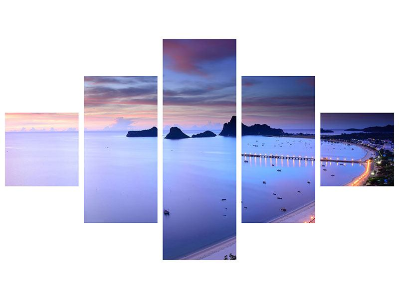 Aluminiumbild 5-teilig Ano Manao Bucht