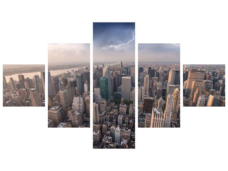 Aluminiumbild 5-teilig Manhattan