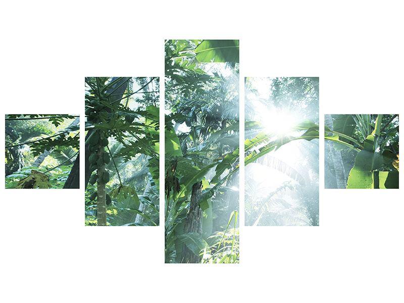 Aluminiumbild 5-teilig Dschungelstar