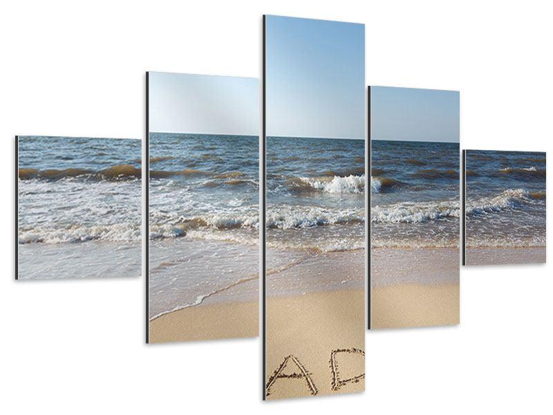 Aluminiumbild 5-teilig Sandspuren
