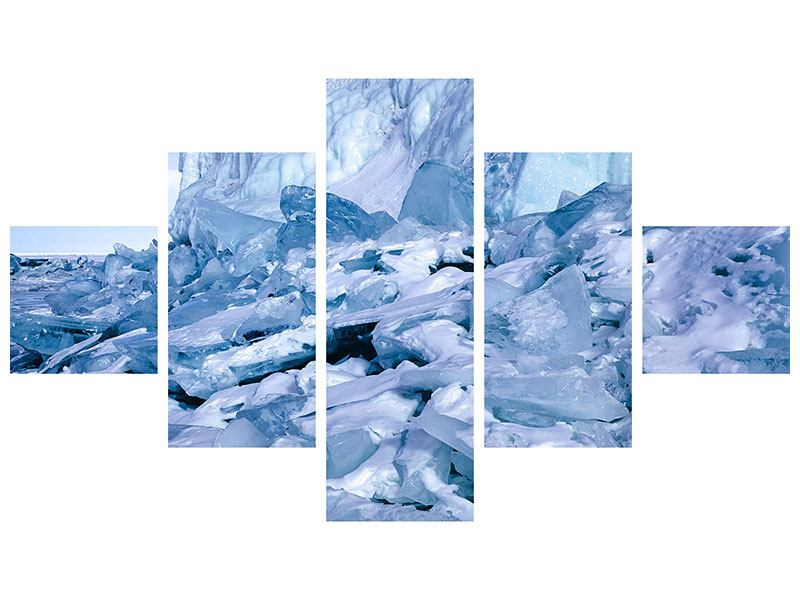 Aluminiumbild 5-teilig Eislandschaft Baikalsee