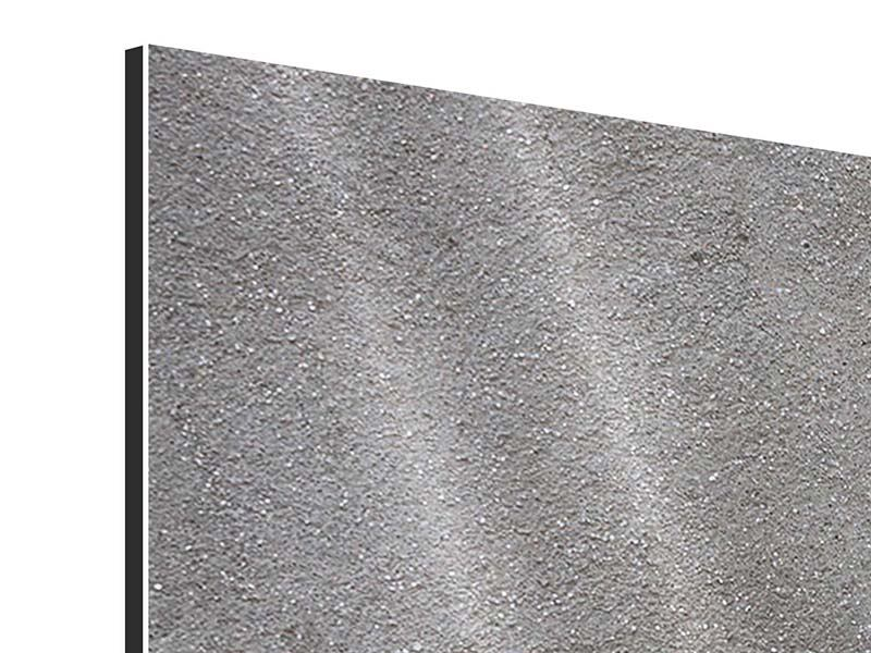 Aluminiumbild 5-teilig Beton in Dunkelgrau