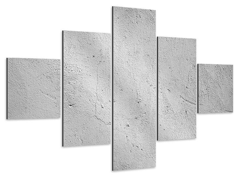 Aluminiumbild 5-teilig Beton