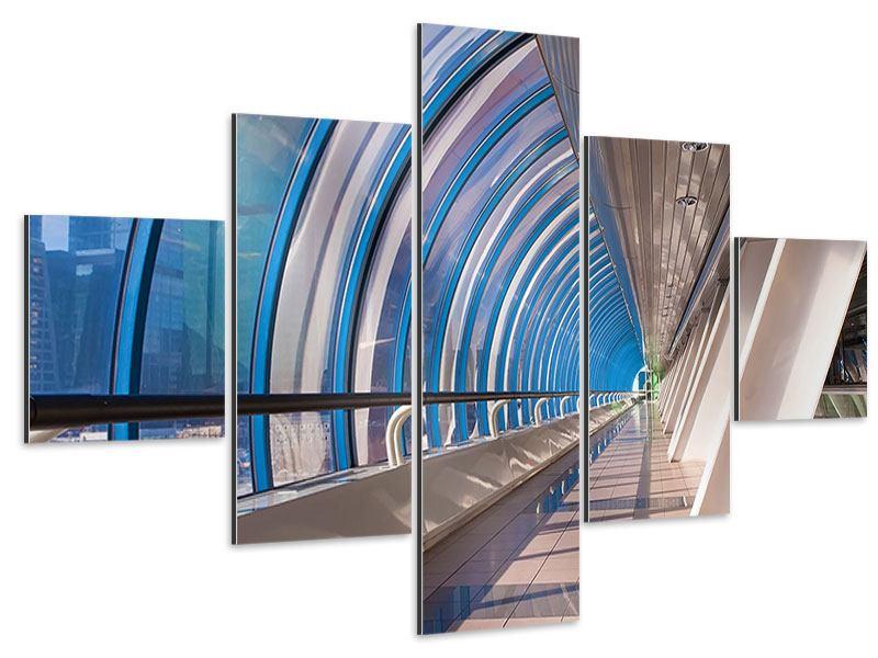 Aluminiumbild 5-teilig Hypermoderne Brücke