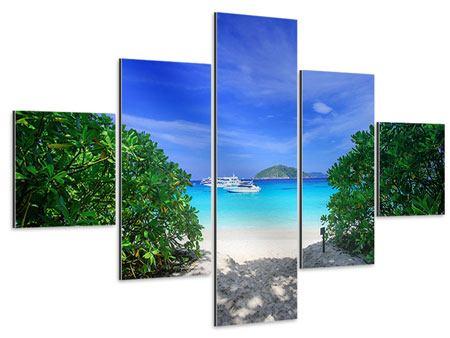 Aluminiumbild 5-teilig Similan-Inseln