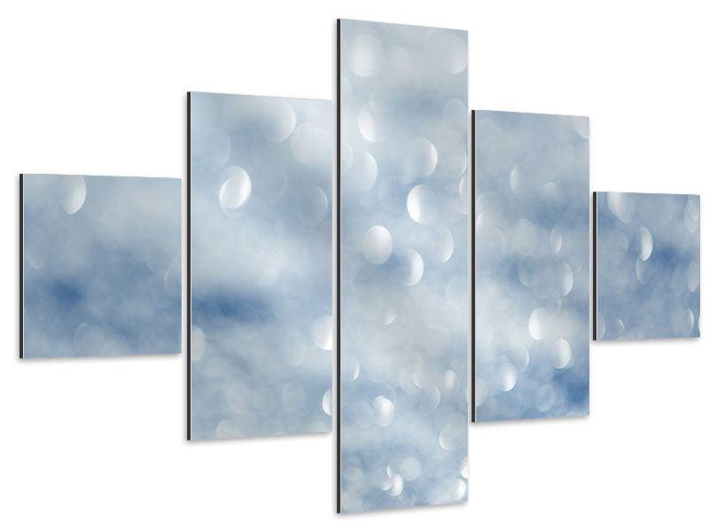 Aluminiumbild 5-teilig Kristallglanz