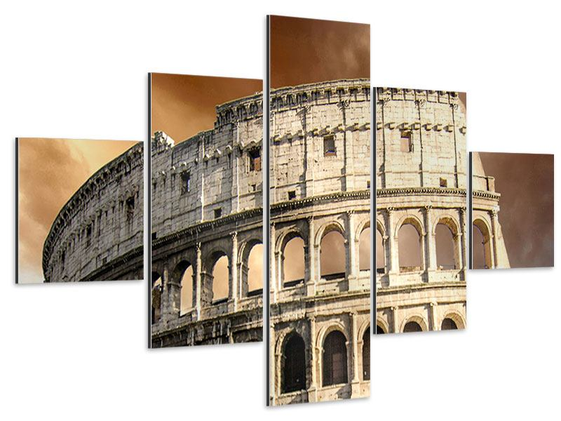 Aluminiumbild 5-teilig Kolosseum Rom