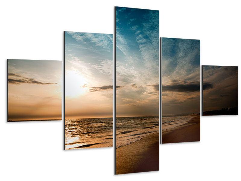 Aluminiumbild 5-teilig Strandspaziergang