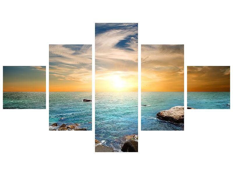 Aluminiumbild 5-teilig Meerwasser