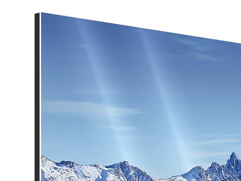 Aluminiumbild 5-teilig Gipfelspitzen