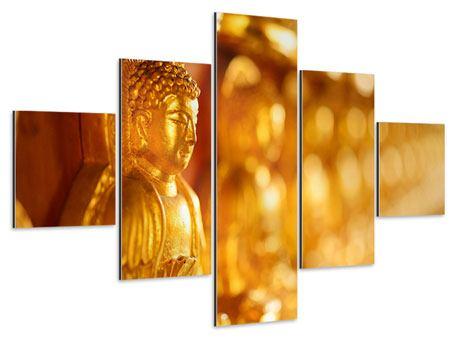 Aluminiumbild 5-teilig Buddhas