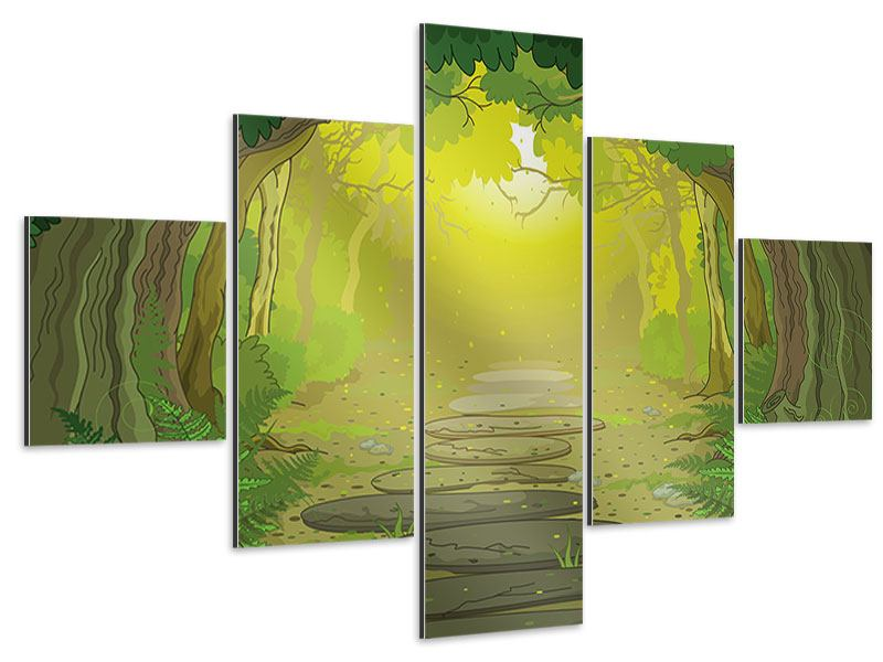 Aluminiumbild 5-teilig Der Märchenwald