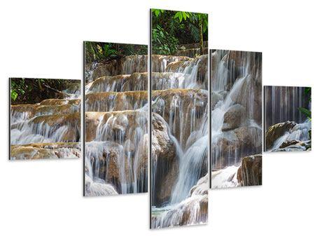 Aluminiumbild 5-teilig Mexikanischer Wasserfall