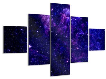 Aluminiumbild 5-teilig Ein Himmel voll Sterne