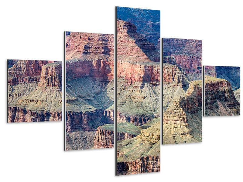 Aluminiumbild 5-teilig Gran Canyon