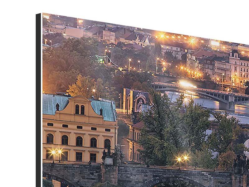 Aluminiumbild 5-teilig Brücken in Prag