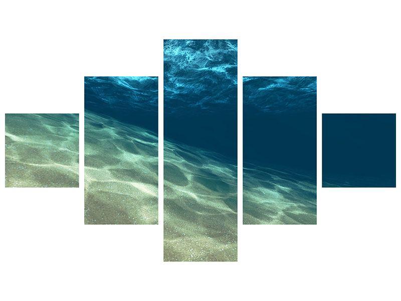 Aluminiumbild 5-teilig Unter dem Wasser