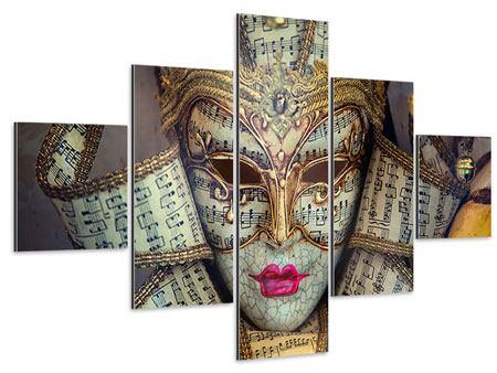 Aluminiumbild 5-teilig Venezianische Maske