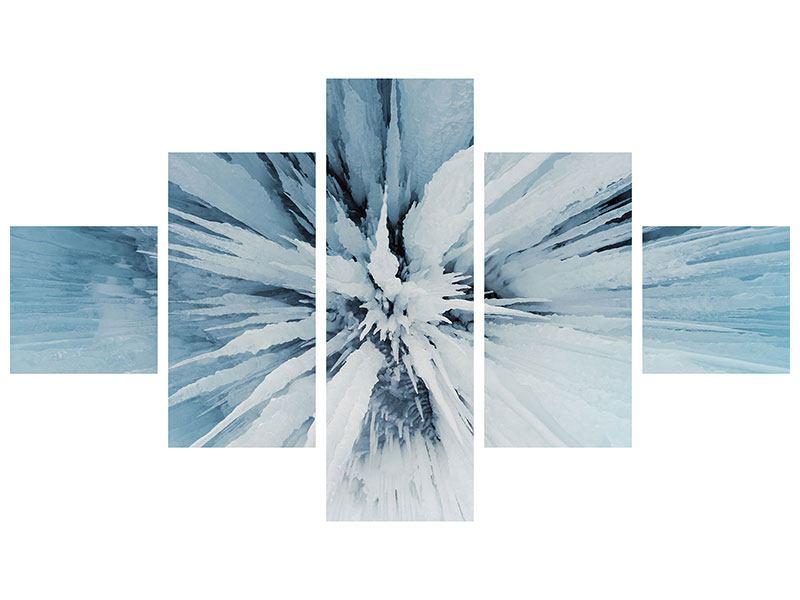 Aluminiumbild 5-teilig Eiskunst