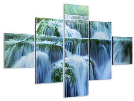 Aluminiumbild 5-teilig Gigantischer Wasserfall