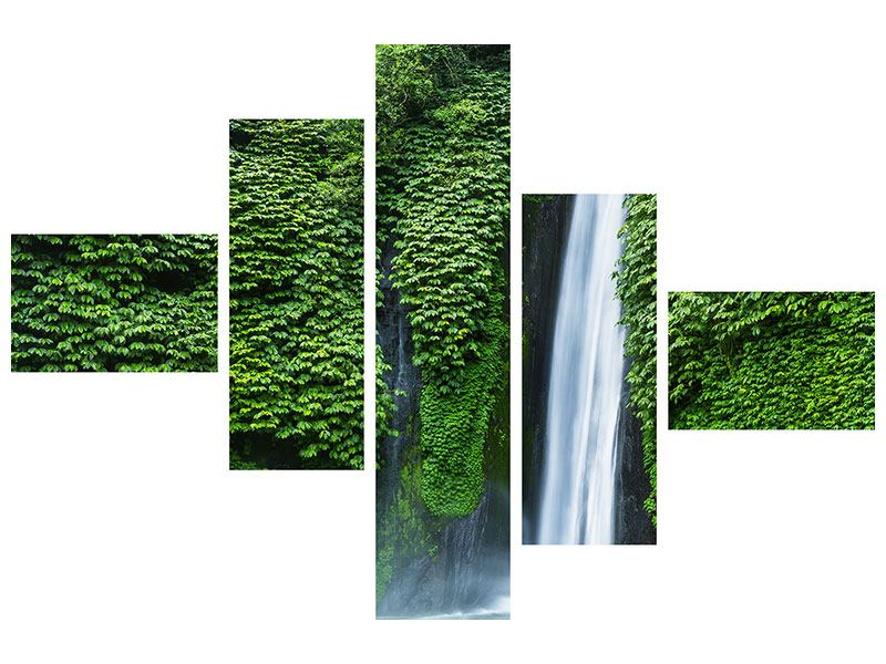Aluminiumbild 5-teilig modern Lebensquelle