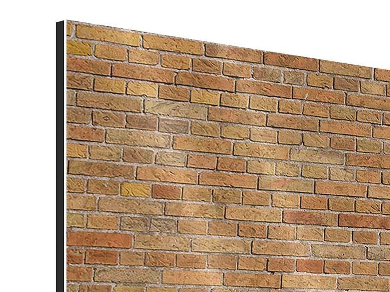 Aluminiumbild 5-teilig modern Backsteinhintergrund