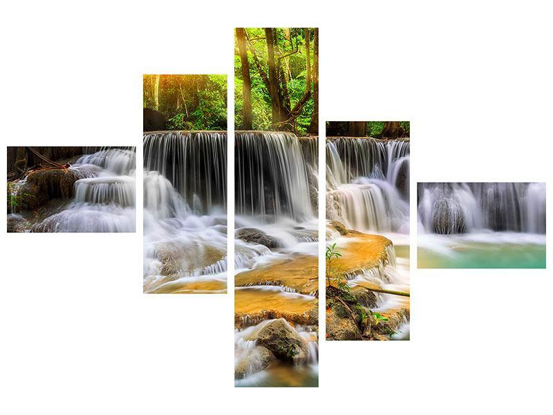 Aluminiumbild 5-teilig modern Nationalpark Si Nakharin