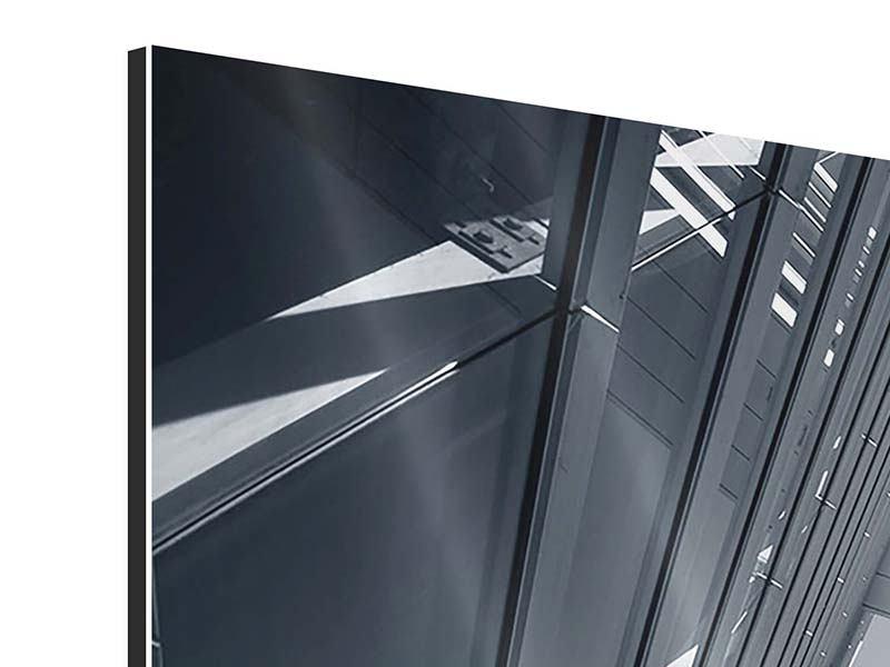 Aluminiumbild 5-teilig modern Der schwarze Diamant Kopenhagens