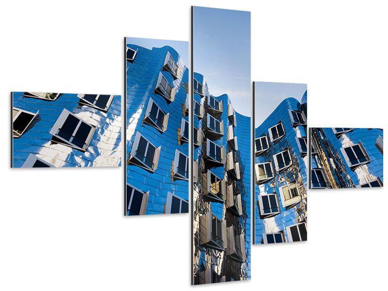 Aluminiumbild 5-teilig modern Neuer Zollhof