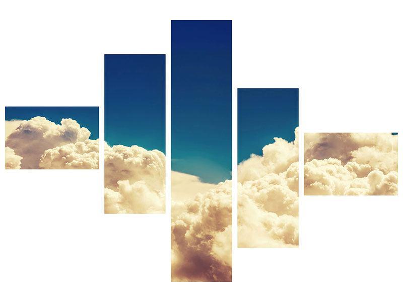 Aluminiumbild 5-teilig modern Himmelswolken