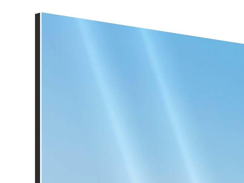 Aluminiumbild 5-teilig modern Dem Gipfel entgegen