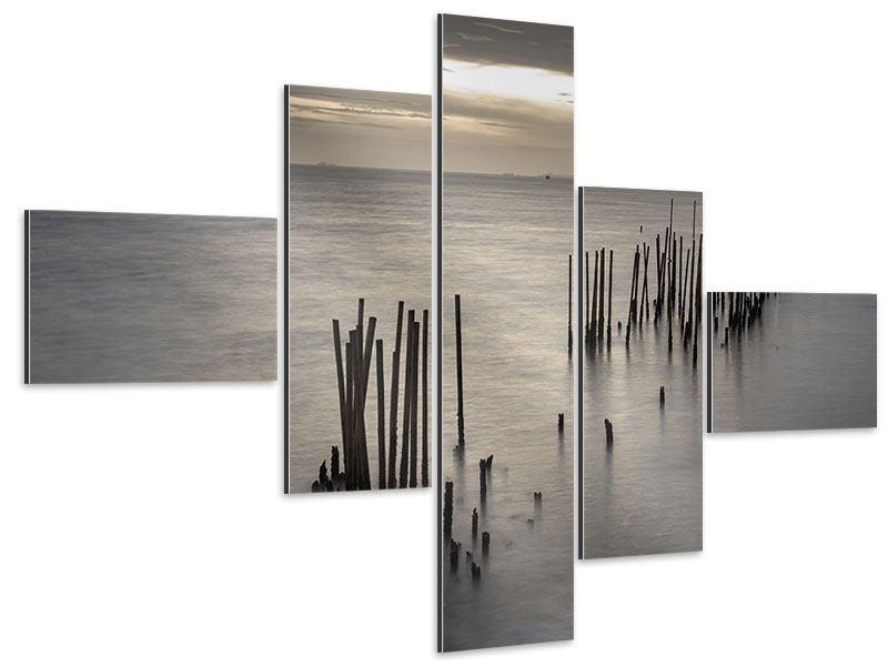 Aluminiumbild 5-teilig modern Das Meer und die Träne