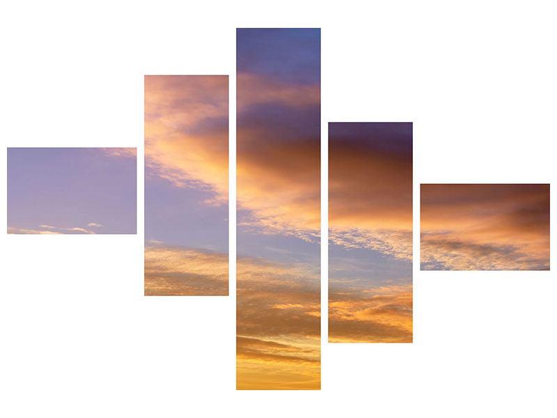 Aluminiumbild 5-teilig modern Himmlisch