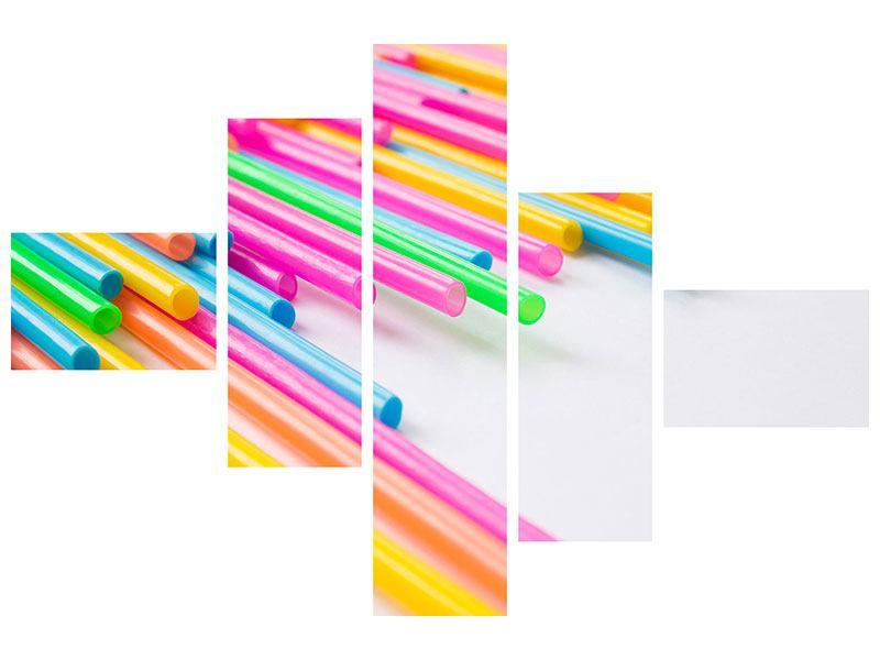Aluminiumbild 5-teilig modern Pop Art
