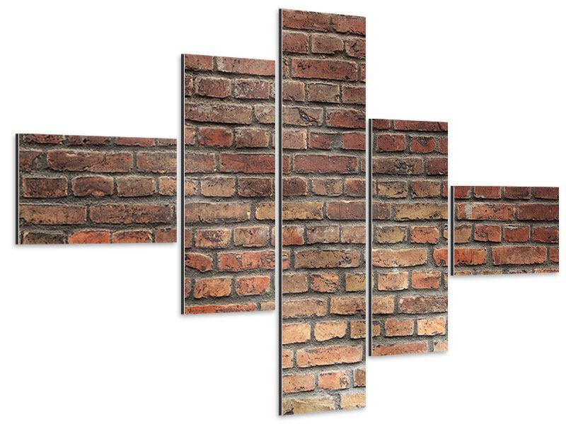 Aluminiumbild 5-teilig modern Brick Wall