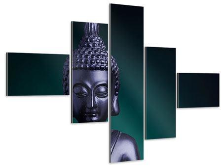 Aluminiumbild 5-teilig modern Die Weisheit des Buddhas