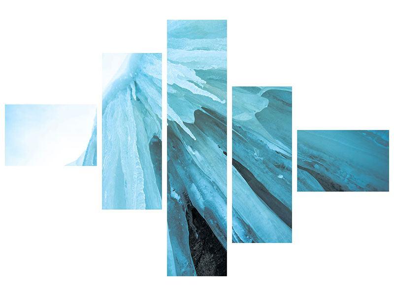 Aluminiumbild 5-teilig modern Die Eiswand