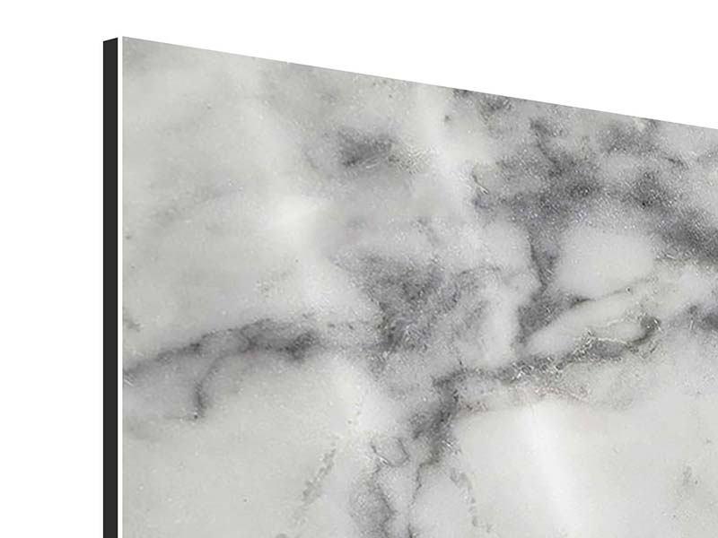 Aluminiumbild 5-teilig modern Klassischer Marmor