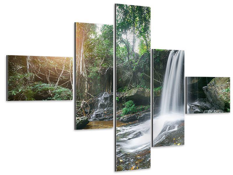 Aluminiumbild 5-teilig modern Naturschauspiel