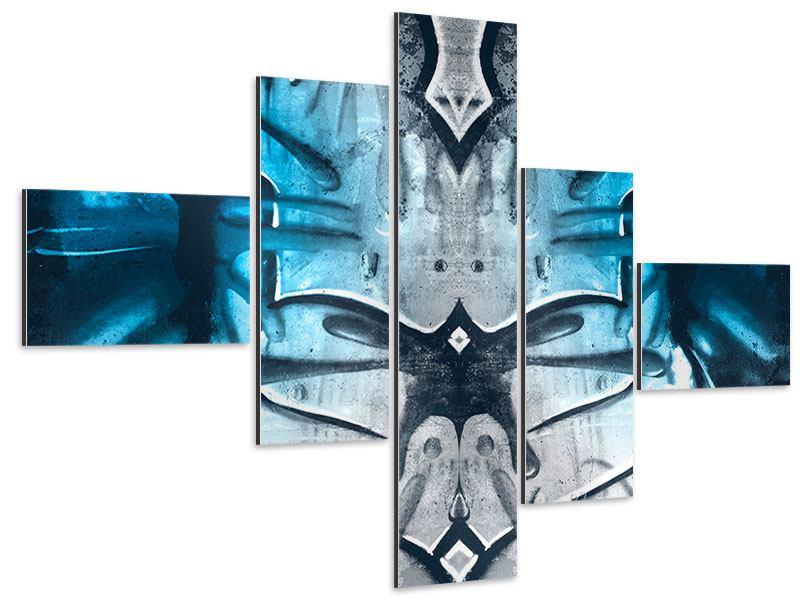 Aluminiumbild 5-teilig modern Painting On The Wall
