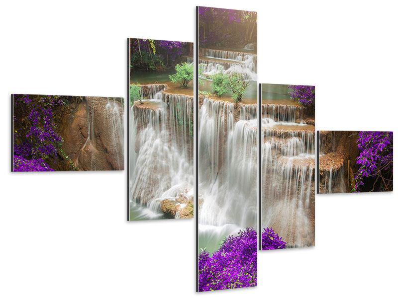 Aluminiumbild 5-teilig modern Garten Eden