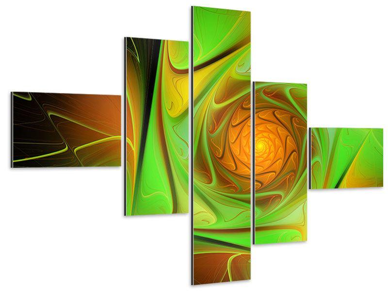 Aluminiumbild 5-teilig modern Abstraktionen