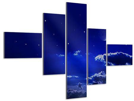 Aluminiumbild 5-teilig modern Der Nachthimmel