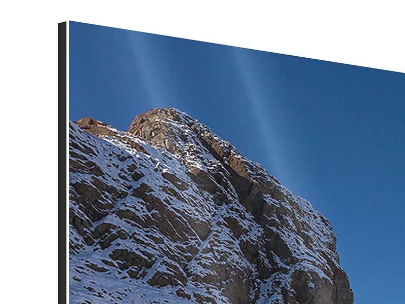 Aluminiumbild 5-teilig modern Der Riffelsee am Matterhorn