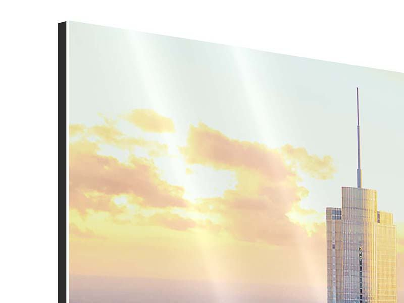 Aluminiumbild 5-teilig modern Skyline Chicago
