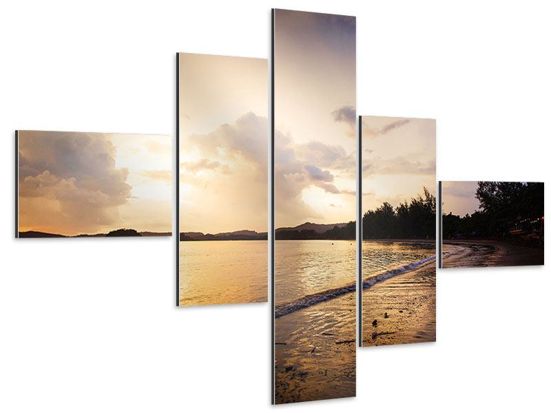 Aluminiumbild 5-teilig modern Das Ufer