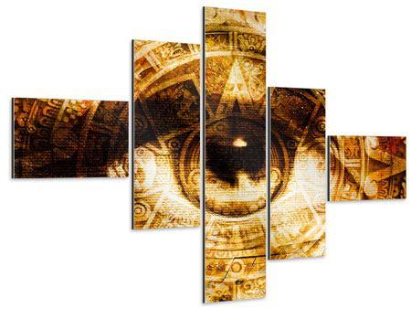 Aluminiumbild 5-teilig modern Fraktales Auge