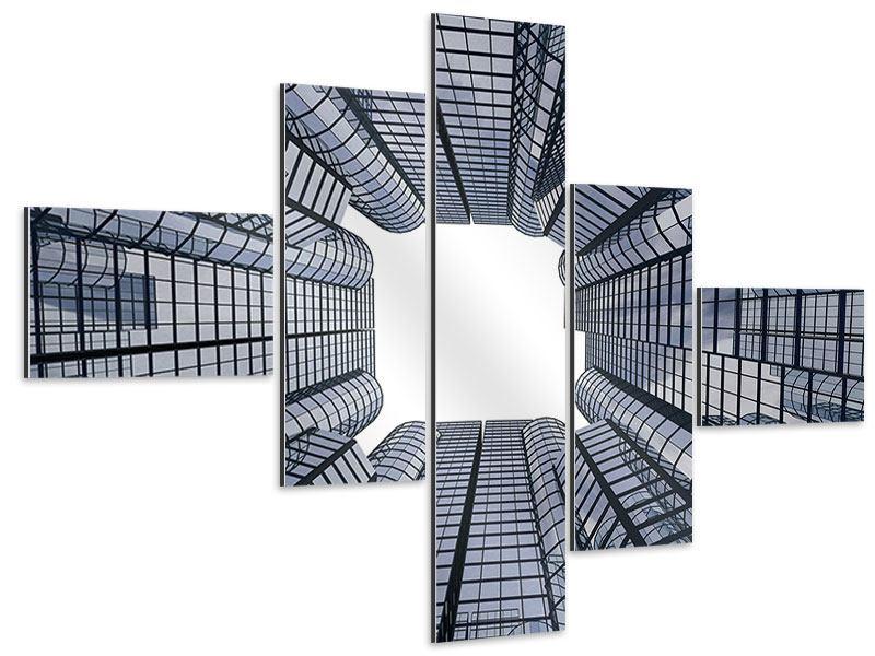 Aluminiumbild 5-teilig modern Besondere Perspektive