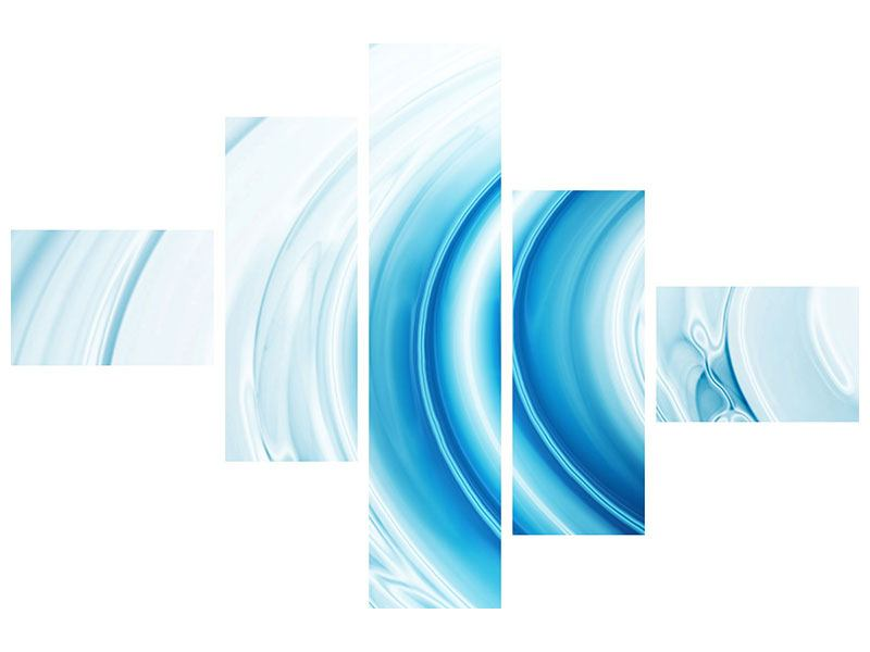 Aluminiumbild 5-teilig modern Abstraktes Glas